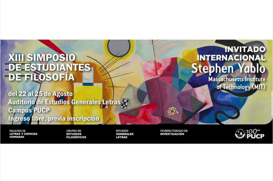 XIII Simposio de Estudiantes de Filosofía PUCP 22/08 - 25/08