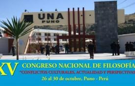 """XV Congreso Nacional de Filosofía: """"Conflictos Culturales, Actualidad y Perspectivas"""""""