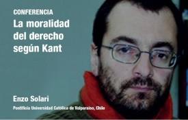"""Simposios del CEF. Conferencia """"La moralidad del derecho según Kant"""" del profesor Enzo Solari"""
