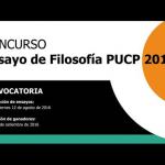 ¡Convocatoria! - Concurso de Ensayo de Filosofía PUCP 2016