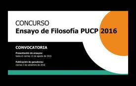 ¡Convocatoria! – Concurso de Ensayo de Filosofía PUCP 2016