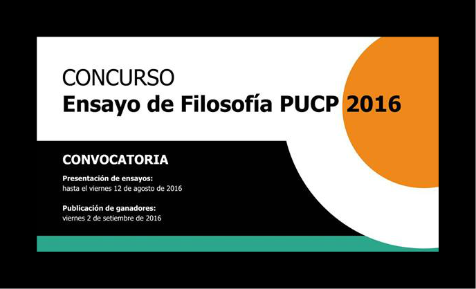 Convocatoria concurso de ensayo de filosof a pucp 2016 for Concurso de docencia 2016