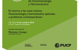 XII Jornadas de Fenomenología y Hermenéutica. Fenomenología y Hermenéutica aplicadas I: razón y diversidad cultural