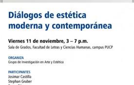 Diálogos de Estética Moderna y Contemporánea (11 de Noviembre)