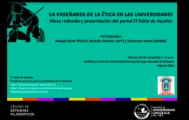 """Presentación del portal web El Talón de Aquiles y mesa redonda sobre """"La enseñanza de la Ética en las universidades"""" en la Universidad Nacional Jorge Basadre Grohmann (Tacna)"""