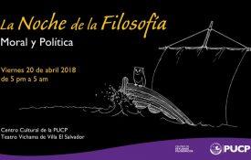 """Noche de la Filosofía 2018 """"Moral y Política"""" – 20/04"""