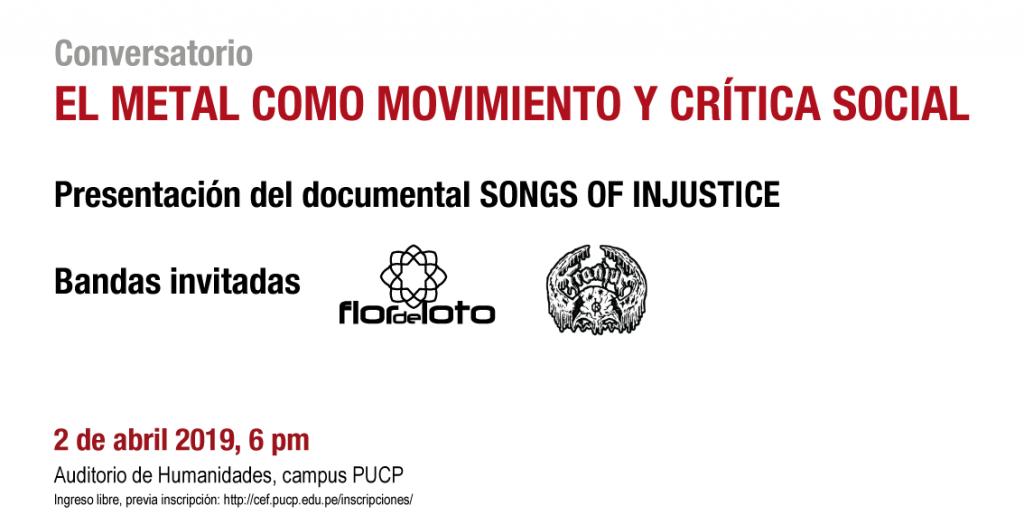 """Conversatorio: """"El metal como movimiento y crítica social"""""""
